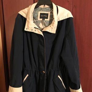 . NAUTICA Navy Blue and Cream Jacket.
